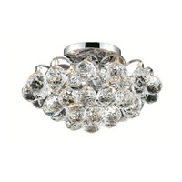 Elegant Lighting Godiva 3 Light Flush Mount in Chrome with Royal Cut Clear Crystal 2001F12C/RC alternative photo thumbnail