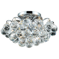 Elegant Lighting Godiva 3 Light Flush Mount in Chrome with Royal Cut Clear Crystal 2001F12C/RC photo thumbnail