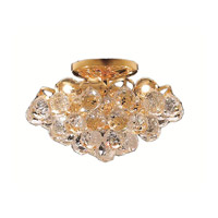 Elegant Lighting Godiva 3 Light Flush Mount in Gold with Royal Cut Clear Crystal 2001F12G/RC alternative photo thumbnail