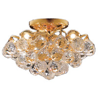 Elegant Lighting Godiva 3 Light Flush Mount in Gold with Royal Cut Clear Crystal 2001F12G/RC photo thumbnail