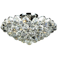 Elegant Lighting Godiva 4 Light Flush Mount in Chrome with Swarovski Strass Clear Crystal 2001F14C/SS