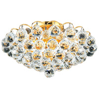 Elegant Lighting Godiva 4 Light Flush Mount in Gold with Swarovski Strass Clear Crystal 2001F14G/SS