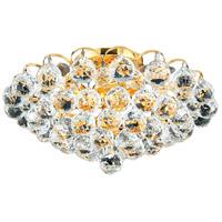 Elegant Lighting 2001F14G/SS Godiva 4 Light 14 inch Gold Flush Mount Ceiling Light in Swarovski Strass