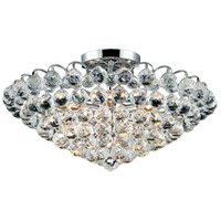 Elegant Lighting Godiva 9 Light Flush Mount in Chrome with Elegant Cut Clear Crystal 2001F21C/EC