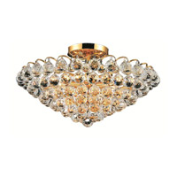 Elegant Lighting Godiva 9 Light Flush Mount in Gold with Swarovski Strass Clear Crystal 2001F21G/SS alternative photo thumbnail