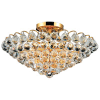 Elegant Lighting Godiva 9 Light Flush Mount in Gold with Swarovski Strass Clear Crystal 2001F21G/SS