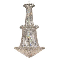 Elegant Lighting Godiva 22 Light Foyer in Chrome with Royal Cut Clear Crystal 2001G36C/RC