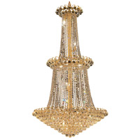 Elegant Lighting Godiva 22 Light Foyer in Gold with Royal Cut Clear Crystal 2001G36G/RC