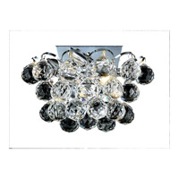 Elegant Lighting Godiva 2 Light Wall Sconce in Chrome with Swarovski Strass Clear Crystal 2001W10C/SS alternative photo thumbnail