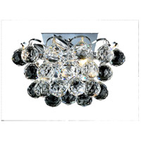 Elegant Lighting Godiva 2 Light Wall Sconce in Chrome with Royal Cut Clear Crystal 2001W10C/RC