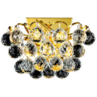 Elegant Lighting Godiva 2 Light Wall Sconce in Gold with Elegant Cut Clear Crystal 2001W10G/EC