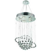 Elegant Lighting Galaxy 5 Light Dining Chandelier in Chrome with Elegant Cut Clear Crystal 2004D16C/EC alternative photo thumbnail
