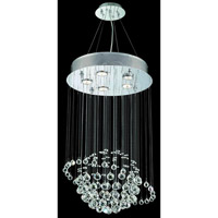 Elegant Lighting Galaxy 5 Light Dining Chandelier in Chrome with Elegant Cut Clear Crystal 2004D16C/EC