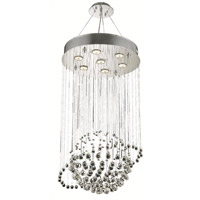 Elegant Lighting Galaxy 7 Light Dining Chandelier in Chrome with Royal Cut Clear Crystal 2004D18C/RC alternative photo thumbnail