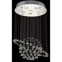 Elegant Lighting Galaxy 6 Light Dining Chandelier in Chrome with Elegant Cut Clear Crystal 2004D22C/EC