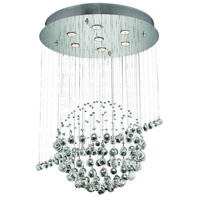 Elegant Lighting Galaxy 7 Light Dining Chandelier in Chrome with Royal Cut Clear Crystal 2004D26C/RC alternative photo thumbnail