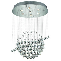 Elegant Lighting Galaxy 7 Light Dining Chandelier in Chrome with Spectra Swarovski Clear Crystal 2004D26C/SA alternative photo thumbnail
