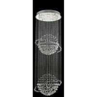 Elegant Lighting Galaxy 8 Light Foyer in Chrome with Swarovski Strass Clear Crystal 2004G24C/SS