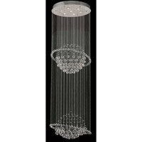 Elegant Lighting Galaxy 12 Light Foyer in Chrome with Swarovski Strass Clear Crystal 2004G28C/SS