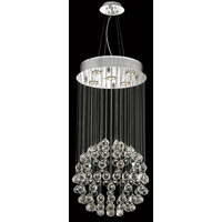 Elegant Lighting Galaxy 5 Light Dining Chandelier in Chrome with Elegant Cut Clear Crystal 2005D16C/EC