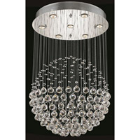 Elegant Lighting Galaxy 8 Light Dining Chandelier in Chrome with Elegant Cut Clear Crystal 2005D24C/EC