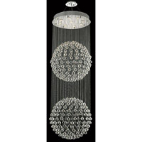Elegant Lighting Galaxy 9 Light Foyer in Chrome with Swarovski Strass Clear Crystal 2005G24C/SS