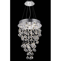 Elegant Lighting Galaxy 7 Light Dining Chandelier in Chrome with Elegant Cut Clear Crystal 2006D16C(LED)/EC