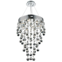 Elegant Lighting Galaxy 7 Light Dining Chandelier in Chrome with Elegant Cut Clear Crystal 2006D16C/EC