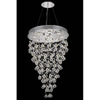 Galaxy 6 Light 18 inch Chrome Dining Chandelier Ceiling Light in LED, Swarovski Strass