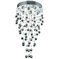 Elegant Lighting V2006D18C/SS Galaxy 6 Light 18 inch Chrome Dining Chandelier Ceiling Light in GU10 Swarovski Strass
