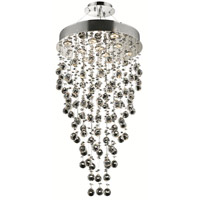 Elegant Lighting 2006D20C/RC Galaxy 9 Light 20 inch Chrome Dining Chandelier Ceiling Light in GU10, Clear, Royal Cut alternative photo thumbnail