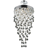 Galaxy 9 Light 20 inch Chrome Dining Chandelier Ceiling Light in LED, Clear, Spectra Swarovski