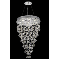 Elegant Lighting Galaxy 8 Light Dining Chandelier in Chrome with Elegant Cut Clear Crystal 2006D24C(LED)/EC
