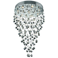 Elegant Lighting Galaxy 8 Light Dining Chandelier in Chrome with Elegant Cut Clear Crystal 2006D24C/EC