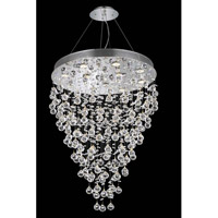 Galaxy 12 Light 28 inch Chrome Dining Chandelier Ceiling Light in LED, Elegant Cut