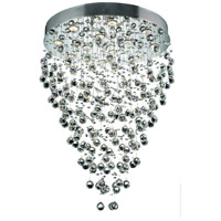 Elegant Lighting Galaxy 12 Light Dining Chandelier in Chrome with Swarovski Strass Clear Crystal 2006D28C/SS