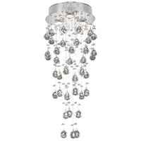 Elegant Lighting Galaxy 3 Light Flush Mount in Chrome with Elegant Cut Clear Crystal 2006F12C/EC