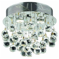 Galaxy 3 Light 13 inch Chrome Flush Mount Ceiling Light in Elegant Cut