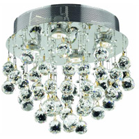 Galaxy 4 Light 14 inch Chrome Flush Mount Ceiling Light in Elegant Cut