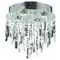 Galaxy 4 Light 14 inch Silver and Clear Mirror Flush Mount Ceiling Light in Spectra Swarovski