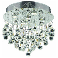 Elegant Lighting V2006F16C/SS Galaxy 5 Light 16 inch Chrome Flush Mount Ceiling Light in Swarovski Strass