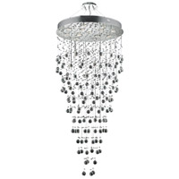 Elegant Lighting V2006G28C/EC Galaxy 13 Light 28 inch Chrome Foyer Ceiling Light in GU10, Elegant Cut