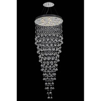 Galaxy 16 Light 30 inch Chrome Foyer Ceiling Light in LED, Royal Cut