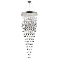 Elegant Lighting Galaxy 16 Light Chandelier in Chrome with Elegant Cut Clear Crystals 2006G30C/EC(LED)