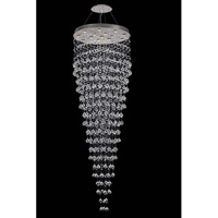 Galaxy 16 Light 32 inch Chrome Foyer Ceiling Light in LED, Elegant Cut