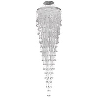 Galaxy 16 Light 36 inch Chrome Foyer Ceiling Light in LED, Royal Cut