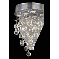 Elegant Lighting Galaxy 3 Light Wall Sconce in Chrome with Royal Cut Clear Crystal 2006W12C(LED)/RC