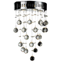 Galaxy 3 Light 12 inch Chrome Wall Sconce Wall Light in GU10, Spectra Swarovski