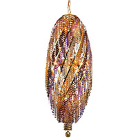 Elegant Lighting Spiral 16 Light Chandelier in Gold with Elegant Cut Clear Crystals 2007D17G/EC photo thumbnail