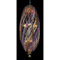 Elegant Lighting Spiral 16 Light Chandelier in Chrome with Royal Cut Customizable Crystals 2007D17SC/RC photo thumbnail